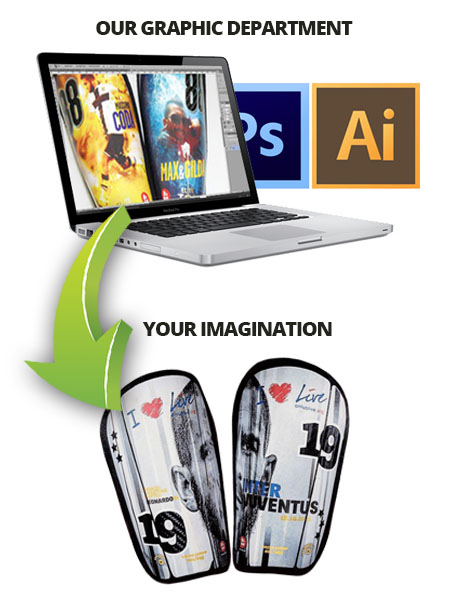 Contact us , our graphics will help you accomplish your shin guards !