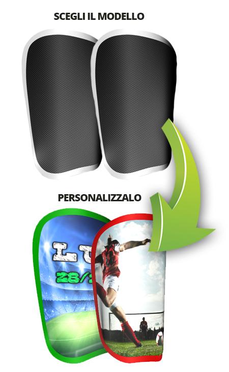 Configuratore online di parastinchi personalizzati