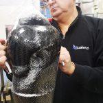 Protezione su misura trauma cranico per Luca - Modello in poliuretano